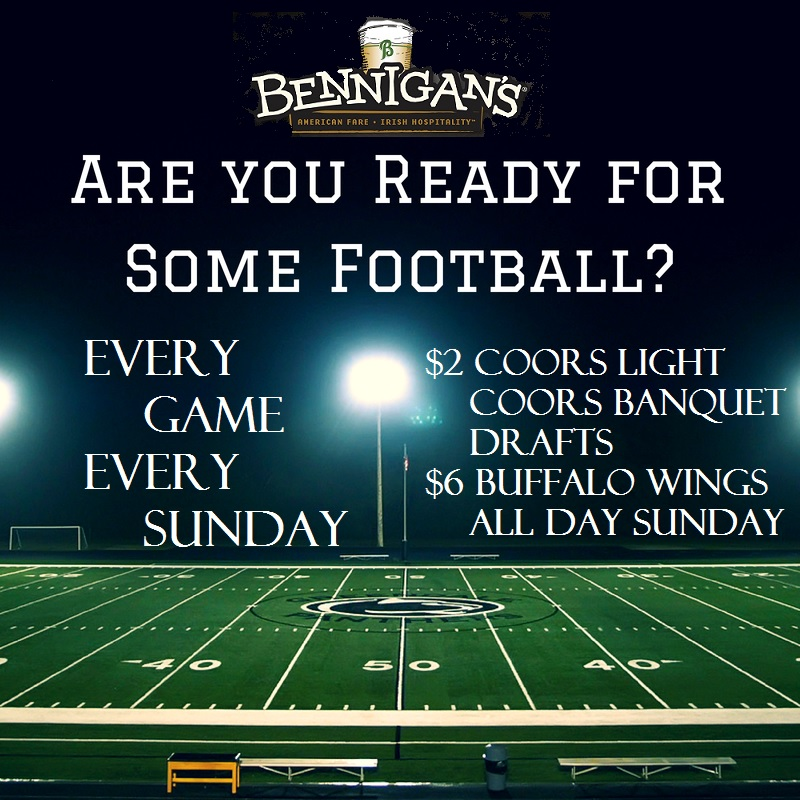 Bennigan's Saddle Brook Sunday Football