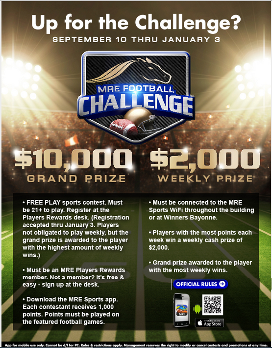 Meadowlands Racetrack MRE Football Challenge