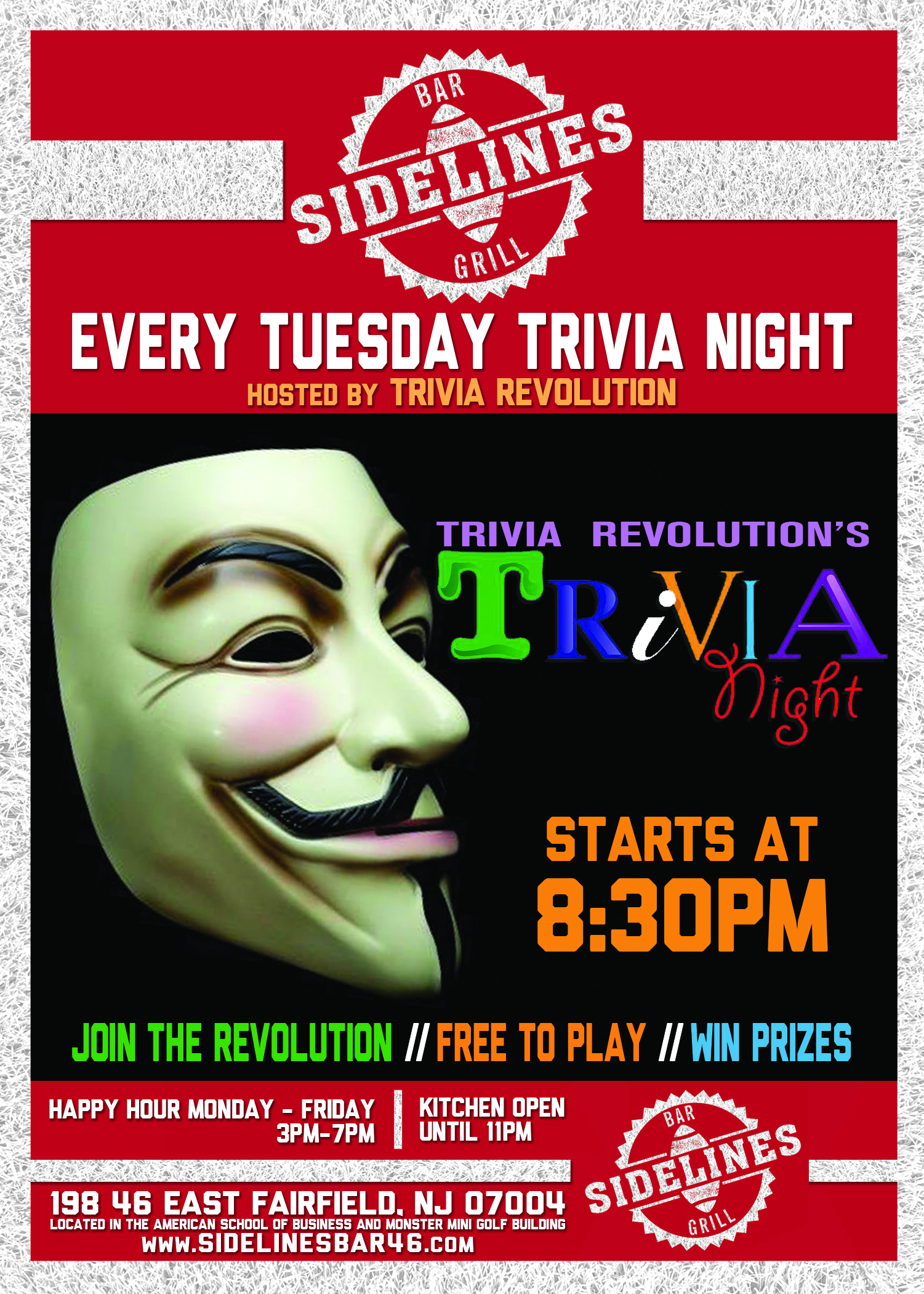 Sidelines Trivia Night Tuesday