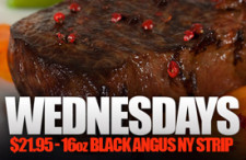Special 16oz Black Angus NY Strip Wednesdays