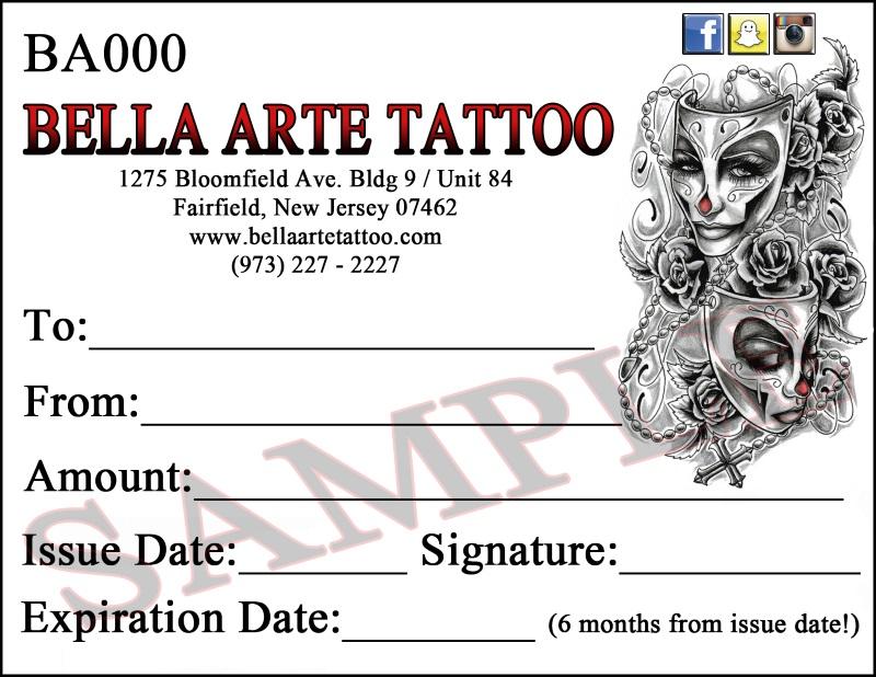 Bella Arte Gift Certificate