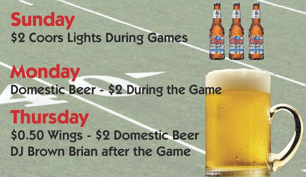 Yesterday's Bar and Grille NFL Game Specials Clifton